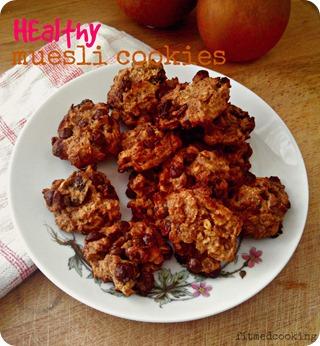 healthy muesli cookies