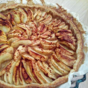 Simple french apple pie