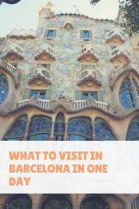 What to visit in Barcelona in one day